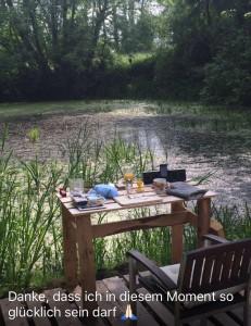 Glück am Teich